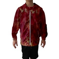 Marble Red Yellow Background Kids  Hooded Windbreaker