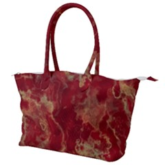 Marble Red Yellow Background Canvas Shoulder Bag