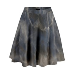Marble Surface Texture Stone High Waist Skirt
