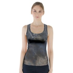 Marble Surface Texture Stone Racer Back Sports Top by HermanTelo
