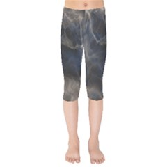 Marble Surface Texture Stone Kids  Capri Leggings  by HermanTelo