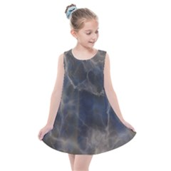 Marble Surface Texture Stone Kids  Summer Dress by HermanTelo