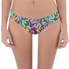 Money Currency Rainbow Reversible Hipster Bikini Bottoms