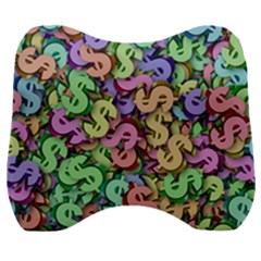 Money Currency Rainbow Velour Head Support Cushion