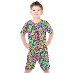 Money Currency Rainbow Kids  Tee And Shorts Set by HermanTelo