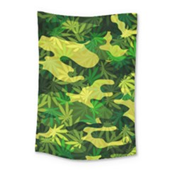 Marijuana Camouflage Cannabis Drug Small Tapestry by HermanTelo