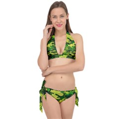 Marijuana Camouflage Cannabis Drug Tie It Up Bikini Set