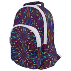 Kaleidoscope Triangle Curved Rounded Multi Pocket Backpack