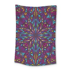 Kaleidoscope Triangle Curved Small Tapestry by HermanTelo