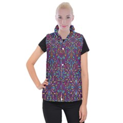 Kaleidoscope Triangle Curved Women s Button Up Vest