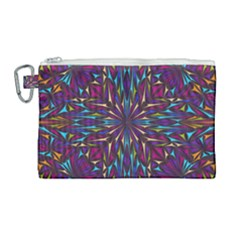 Kaleidoscope Triangle Curved Canvas Cosmetic Bag (large) by HermanTelo