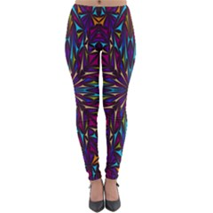 Kaleidoscope Triangle Curved Lightweight Velour Leggings