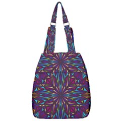 Kaleidoscope Triangle Curved Center Zip Backpack