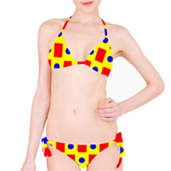 Pattern Circle Plaid Classic Bikini Set
