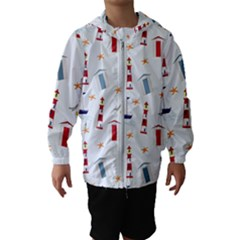 Nautical Sea Kids  Hooded Windbreaker