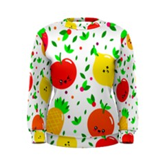 Pattern Fruits Orange Green Women s Sweatshirt by HermanTelo