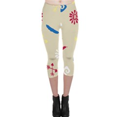 Pattern Culture Tribe American Capri Leggings