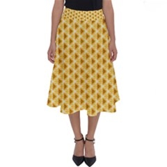 Pattern Halloween Pumpkin Color Perfect Length Midi Skirt