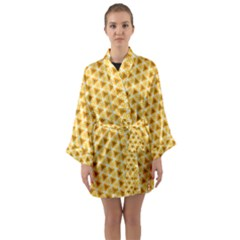 Pattern Halloween Pumpkin Color Long Sleeve Kimono Robe