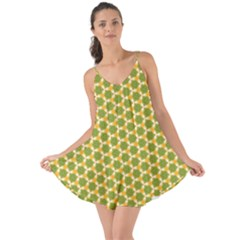 Pattern Halloween Pumpkin Color Green Love The Sun Cover Up