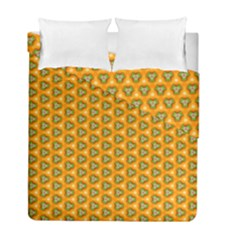 Pattern Halloween Pumpkin Color Leaf Duvet Cover Double Side (full/ Double Size)