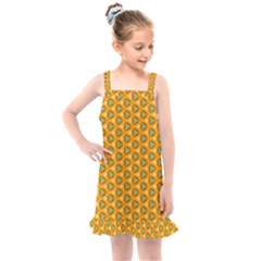 Pattern Halloween Pumpkin Color Leaf Kids  Overall Dress by HermanTelo