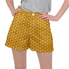 Pattern Halloween Pumpkin Color Leaf Ripstop Shorts
