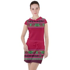 Ornaments Mexico Cheerful Drawstring Hooded Dress