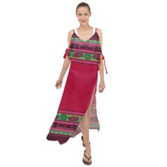 Ornaments Mexico Cheerful Maxi Chiffon Cover Up Dress