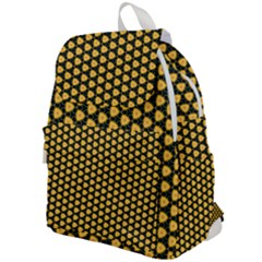 Pattern Halloween Pumpkin Color Yellow Top Flap Backpack