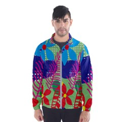Pattern Leaf Polka Floral Men s Windbreaker