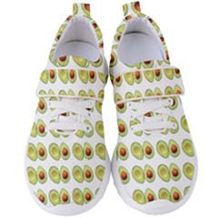 Pattern Avocado Green Fruit Women s Velcro Strap Shoes by HermanTelo