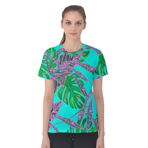 Painting Oil Leaves Nature Reason Women s Cotton Tee by HermanTelo