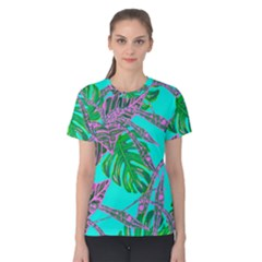 Painting Oil Leaves Nature Reason Women s Cotton Tee