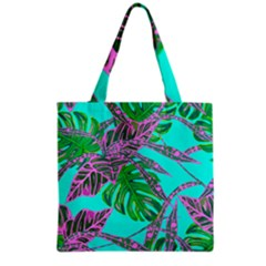 Painting Oil Leaves Nature Reason Grocery Tote Bag by HermanTelo