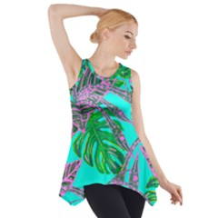 Painting Oil Leaves Nature Reason Side Drop Tank Tunic