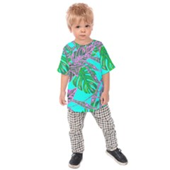 Painting Oil Leaves Nature Reason Kids  Raglan Tee