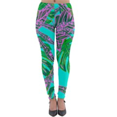 Painting Oil Leaves Nature Reason Lightweight Velour Leggings