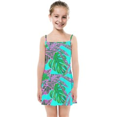 Painting Oil Leaves Nature Reason Kids  Summer Sun Dress by HermanTelo