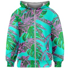 Painting Oil Leaves Nature Reason Kids  Zipper Hoodie Without Drawstring