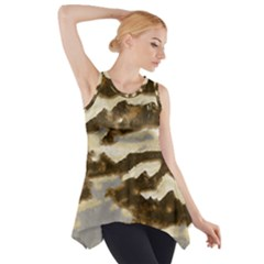 Mountains Ocean Clouds Side Drop Tank Tunic