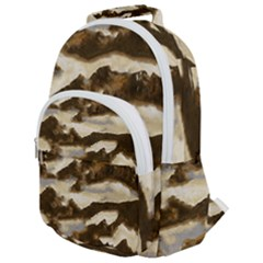 Mountains Ocean Clouds Rounded Multi Pocket Backpack