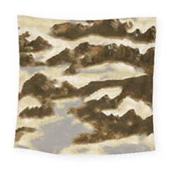 Mountains Ocean Clouds Square Tapestry (large)