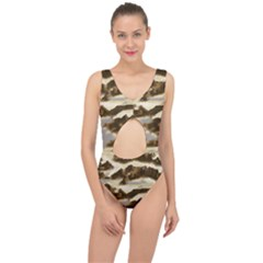 Mountains Ocean Clouds Center Cut Out Swimsuit