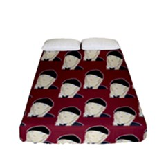 Beanie Boy Pattern Red Fitted Sheet (full/ Double Size) by snowwhitegirl