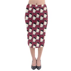 Beanie Boy Pattern Red Midi Pencil Skirt by snowwhitegirl