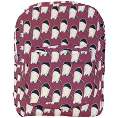 Beanie Boy Pattern Red Full Print Backpack by snowwhitegirl