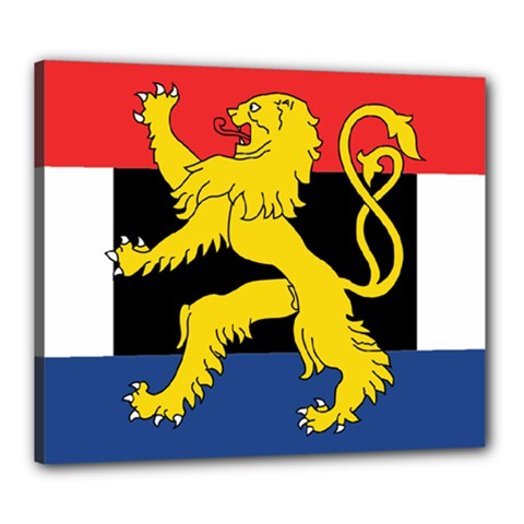 Flag Of Benelux Union Canvas 24  X 20  (stretched) by abbeyz71