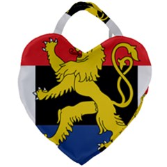 Flag Of Benelux Union Giant Heart Shaped Tote by abbeyz71