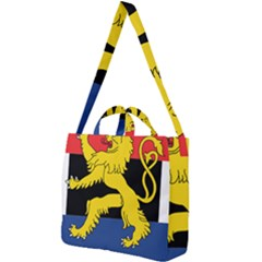 Flag Of Benelux Union Square Shoulder Tote Bag by abbeyz71